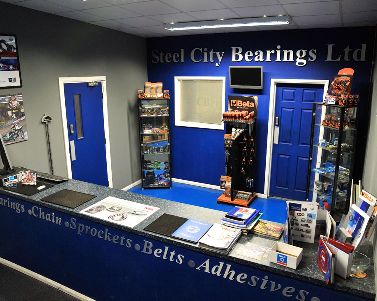 Photo of Steel City Bearings counter at their office