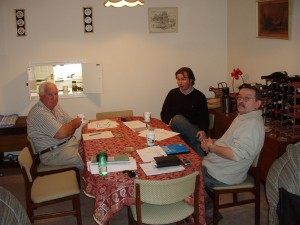 2005 Board Meeting with directors Tony, Peter and John