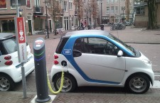 Electric car charging in Amsterdam
