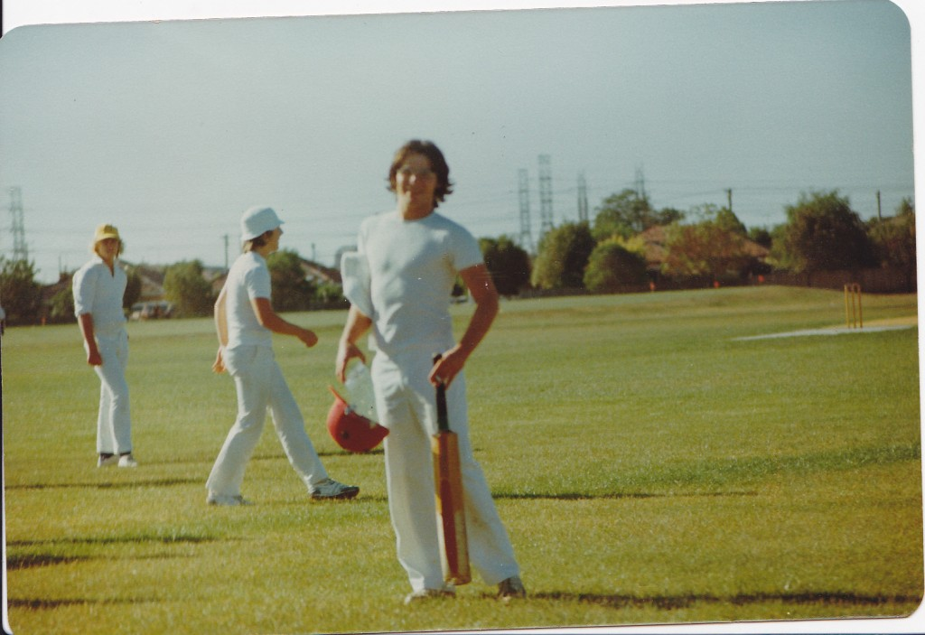 opening the batting as a16yo (1976)