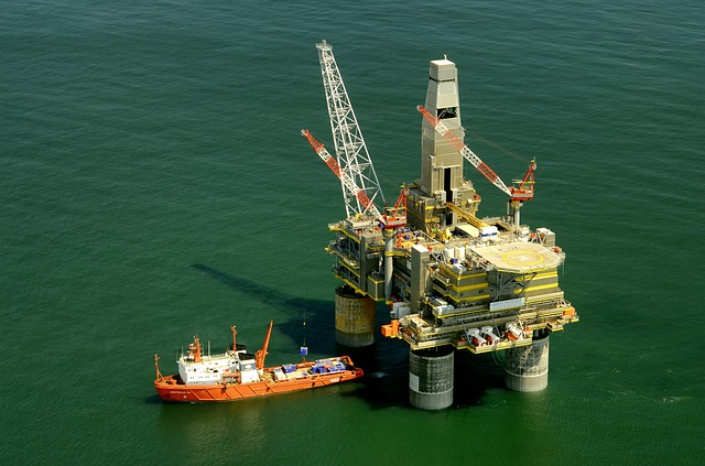 Photo of an oil rig