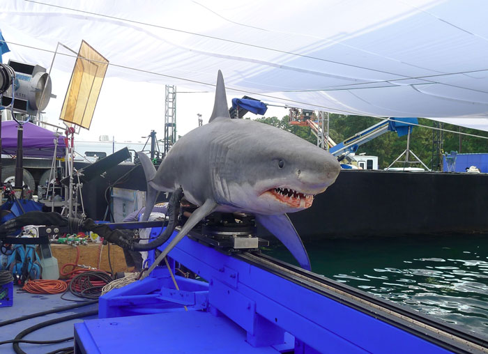 Picture of the shark that Igus's slewing rings brought to life