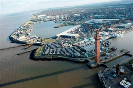 Photo of Grimsby from the air