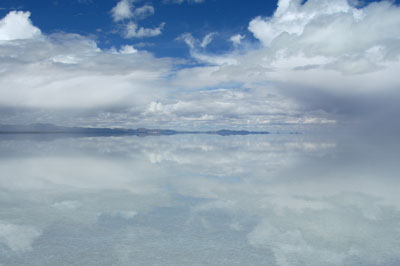 Salar de Uyuni rainy season reflection