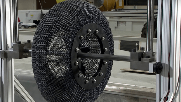 NASA's new titanium tires can never get a flat