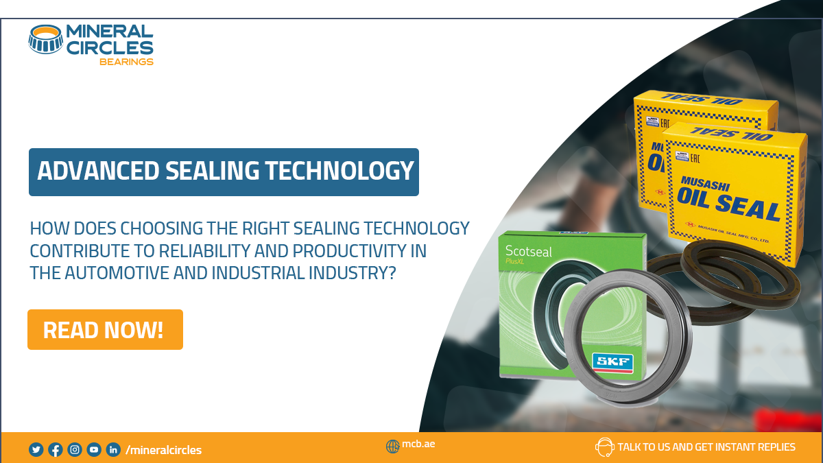 How does choosing the right sealing technology contribute to reliability and productivity in the automotive and industrial industry
